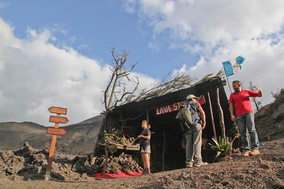 Lava Store on Volcan Pacaya