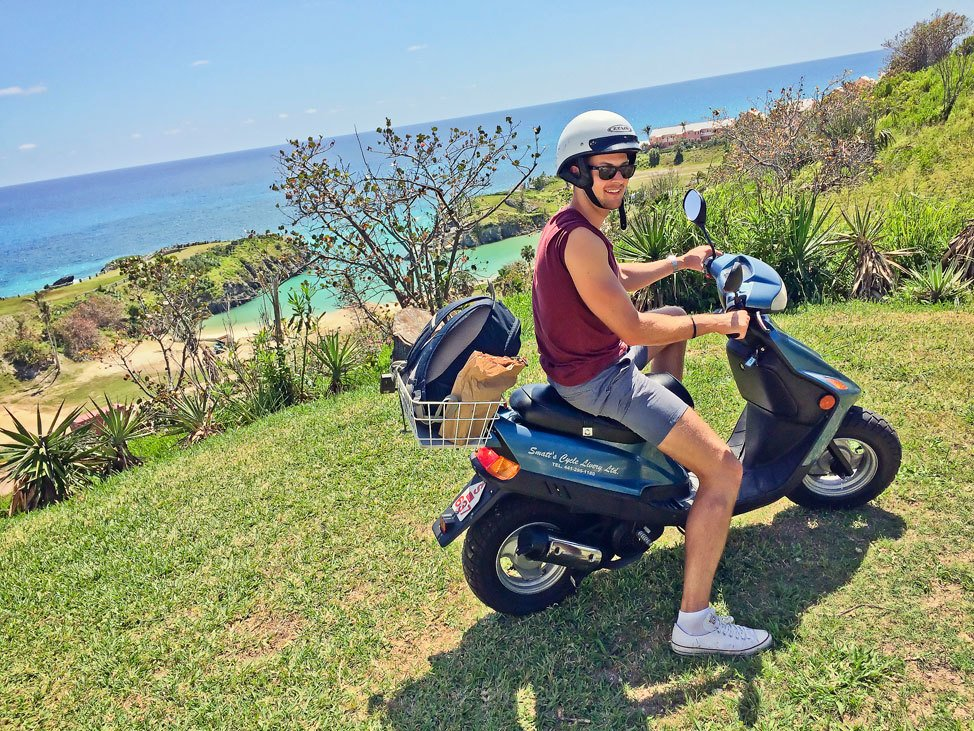 Driving a Scooter in Bermuda
