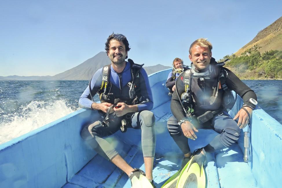 Diving in Lake Atitlan