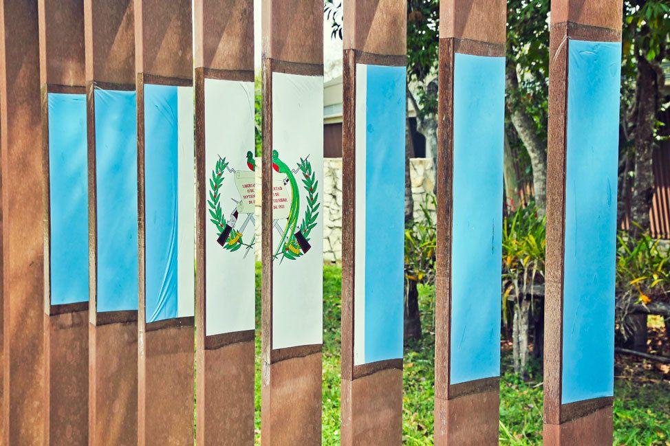 Guatemalan Flag at Tikal