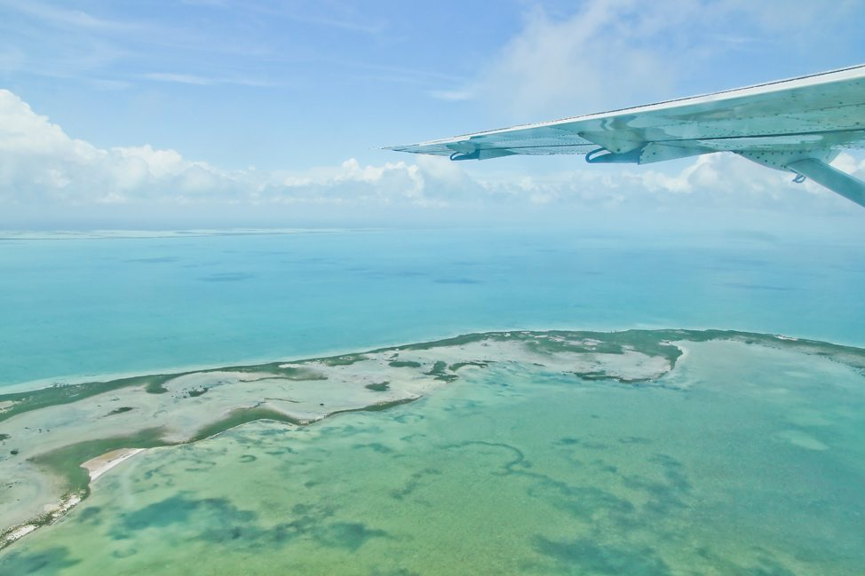 Flying to Caye Caulker