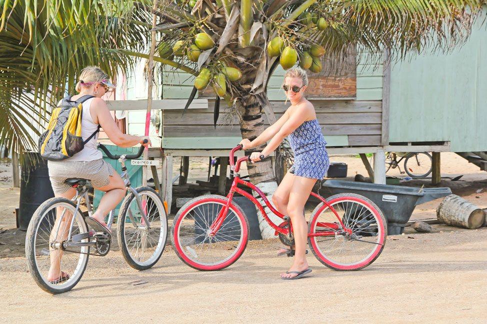 Biking in Hopkins, Belize