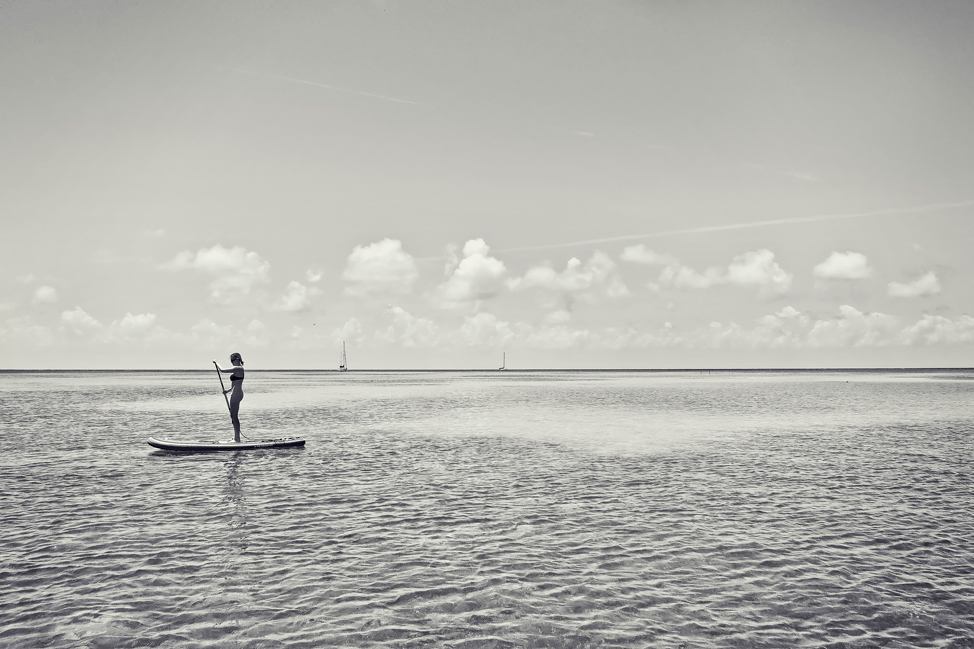 Stand Up Paddling in Caye Caulker