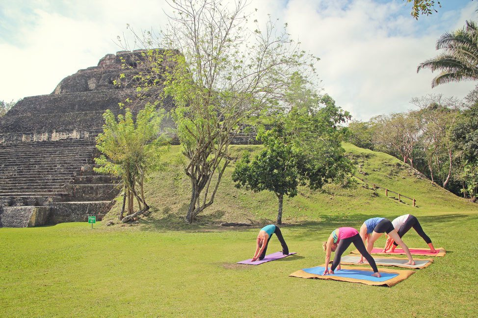Yoga at Xunantunich