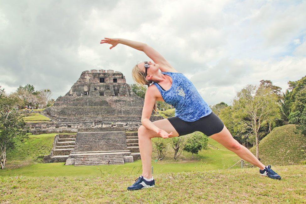 Yoga at a Mayan Ruin