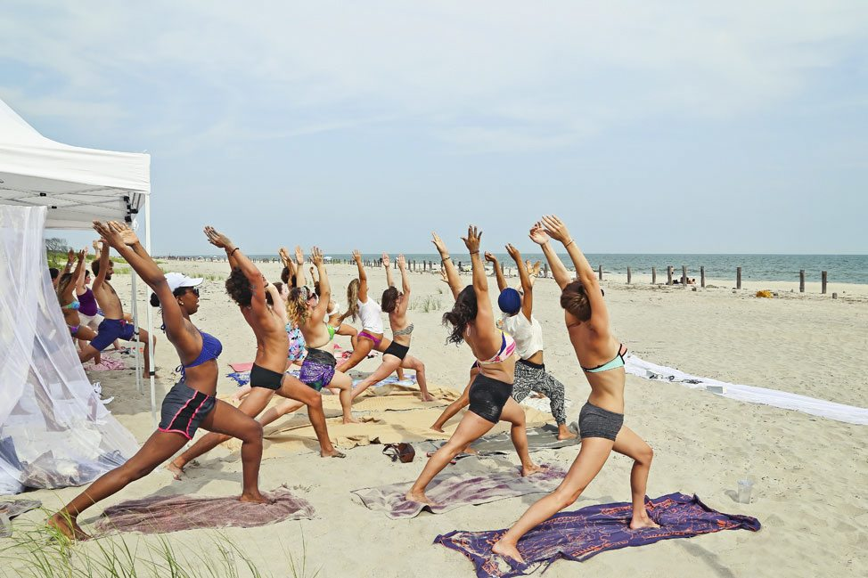 Yoga at Fort Tilden