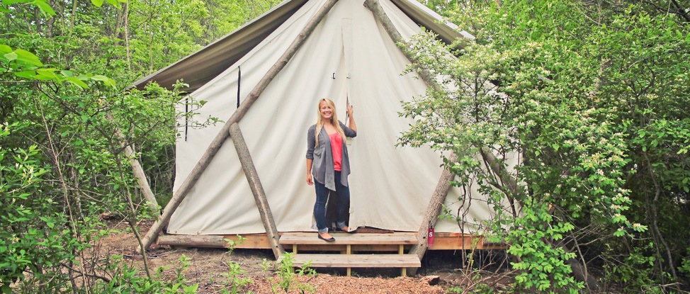 Glamping at Firelight Camps in Ithaca