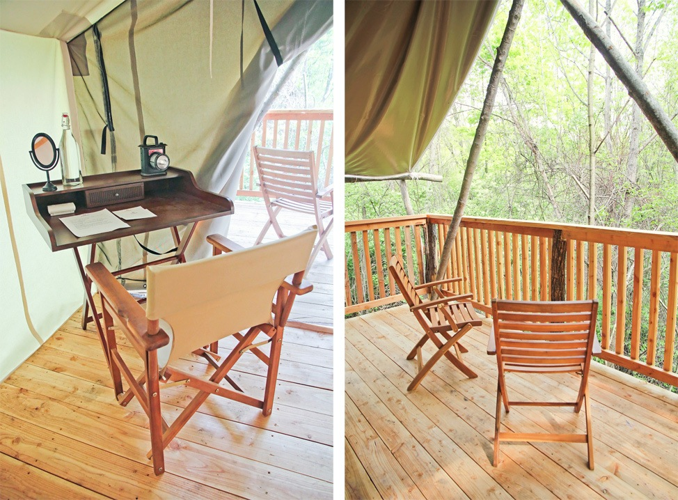 Glamping in Ithaca at Firelight Camps
