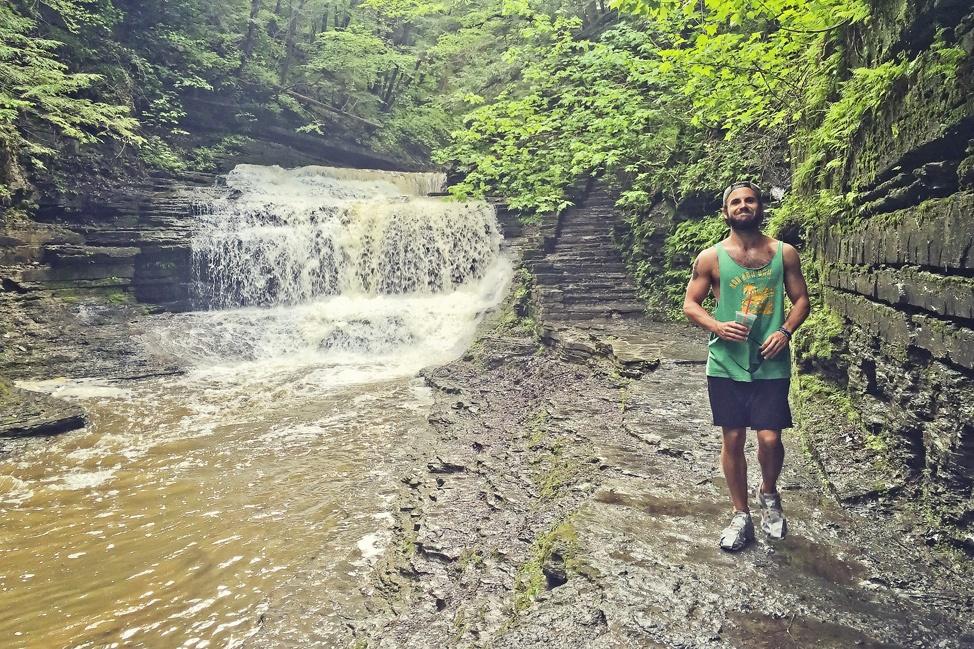 Hiking at Buttermilk Falls
