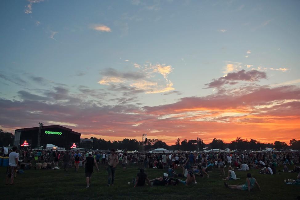 Sunset at Bonnaroo