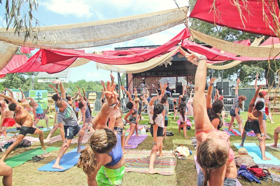 Yoga at Bonnaroo