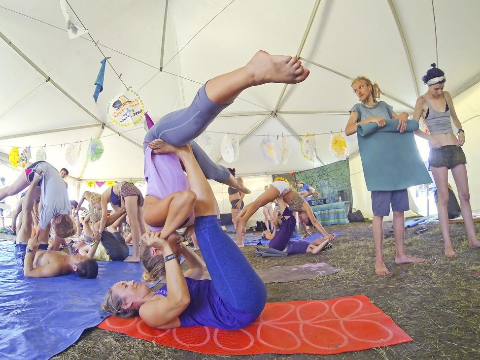 Acro Yoga at Bonnaroo