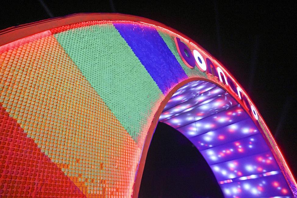 Bonnaroo Sign by Night