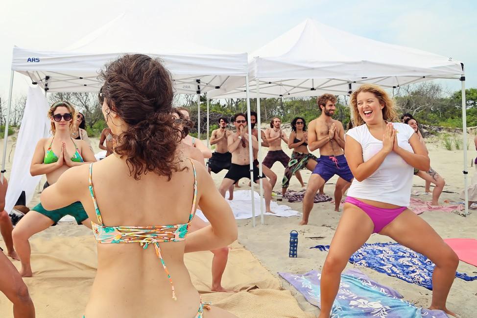 Fort Tilden Beach Yoga