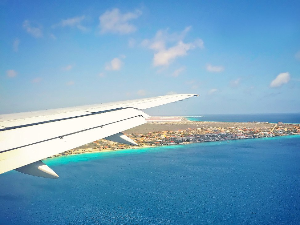 Flying into Bonaire