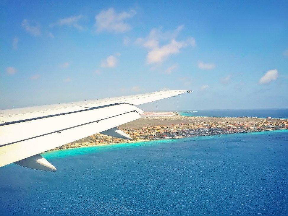 Flying into Bonaire