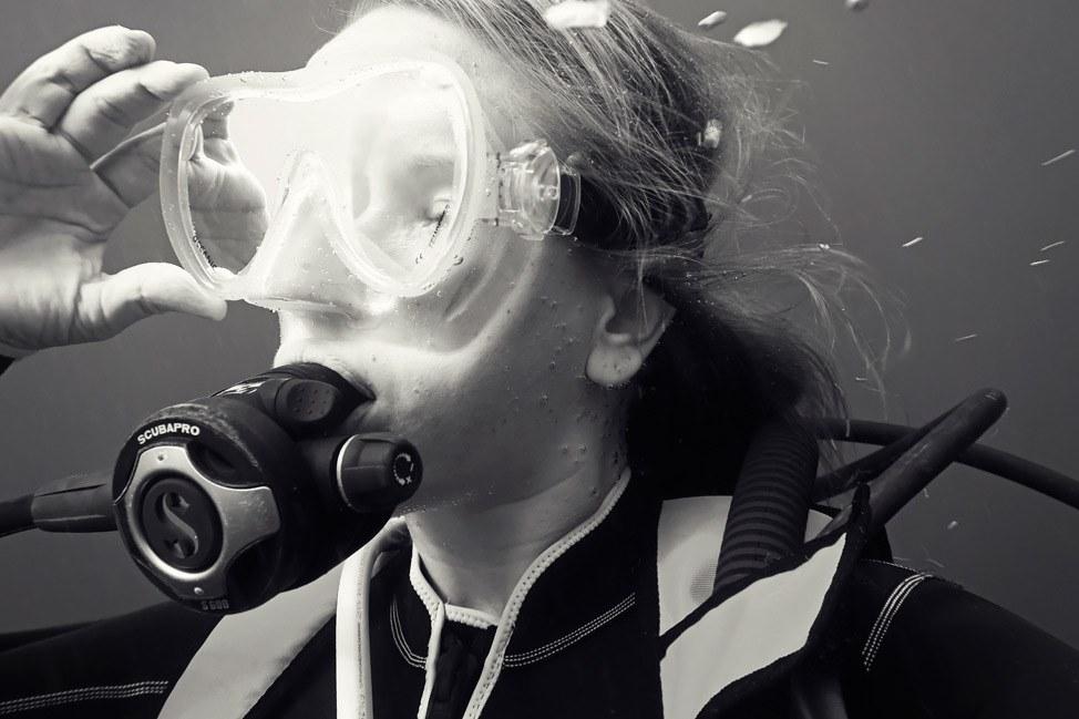 Diving Self Portrait