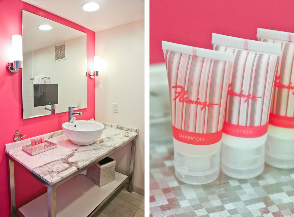 The Flamingo Las Vegas GO Room Bathroom