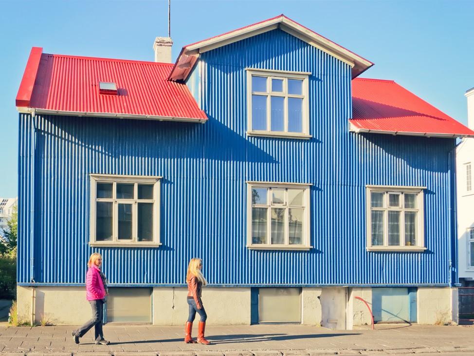Walking in Reykjavik