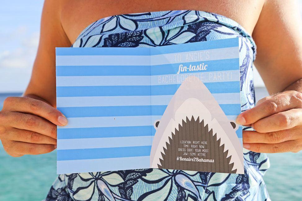 Shark Jaws Party Invitation