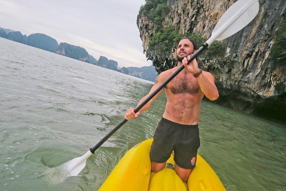 Kayaing in Phang Nga Bay