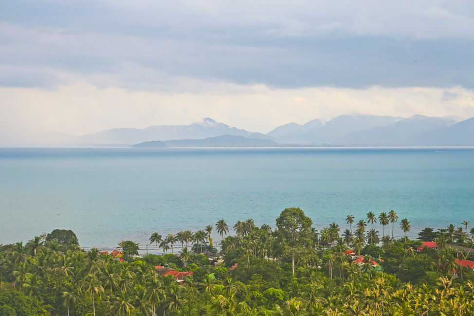 View of Koh Phangan from Koh Samui
