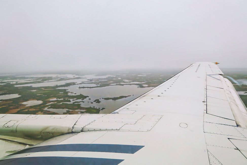 Flying into Churchill Manitoba