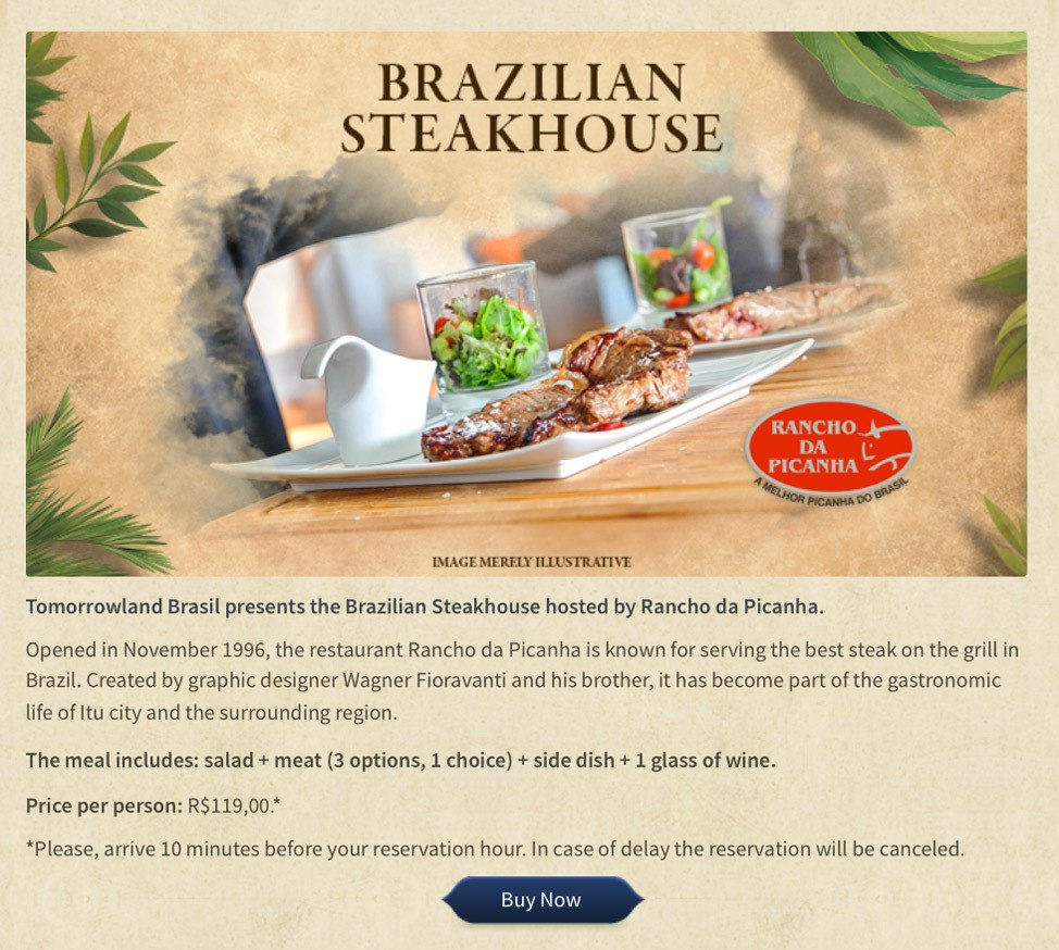 Tomorrowland Brasil Steakhouse