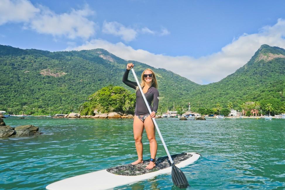 Stand Up Paddleboarding on Ilha Grande Brazil