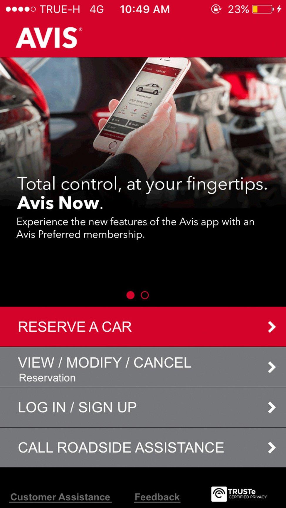 Avis Now Travel App Review