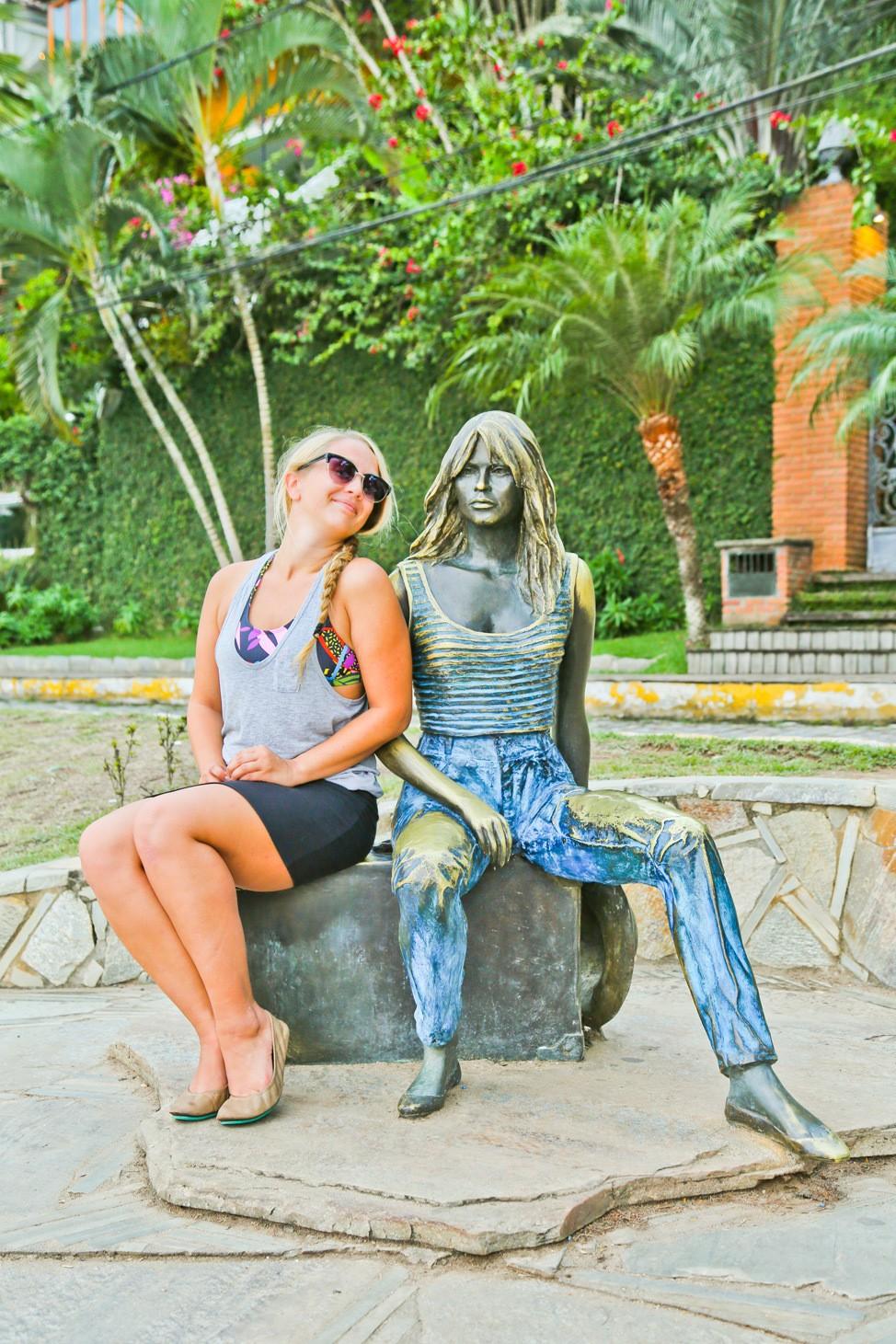 Brigitte Bardot Statue, Buzios, Brazil