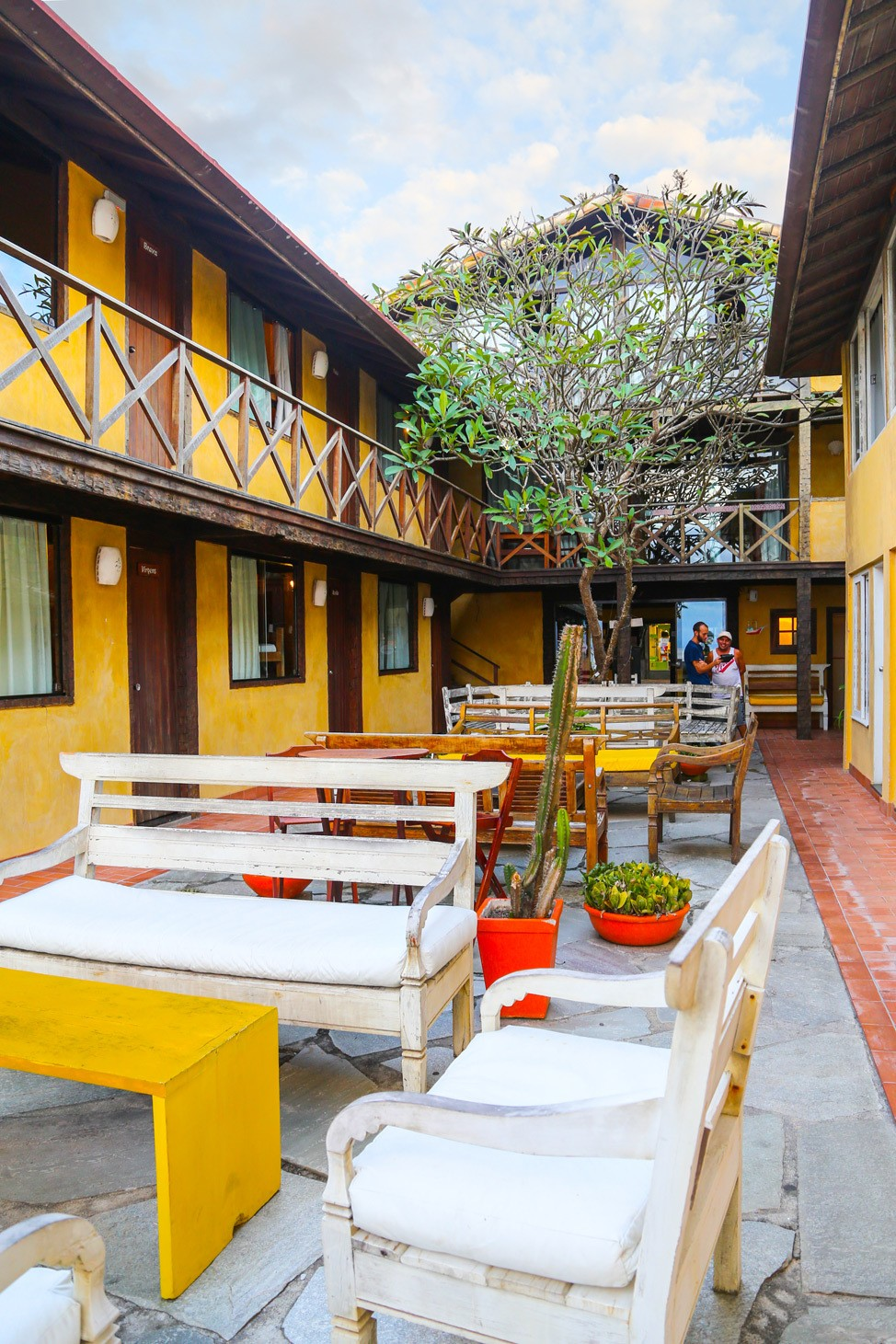 Courtyard at Nomad Hostel, Buzios, Brazil