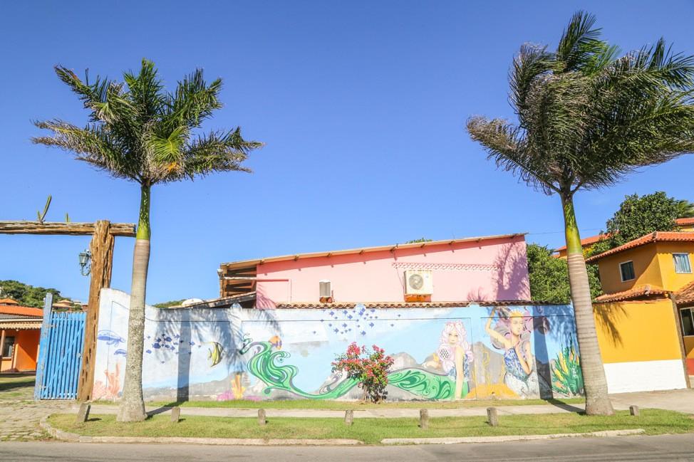 Colorful Murals in Buzios, Brazil