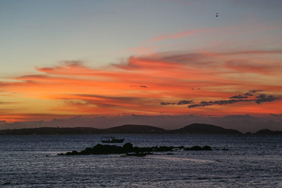 Sunset from Praia Manguinhos, Buzios, Brazil