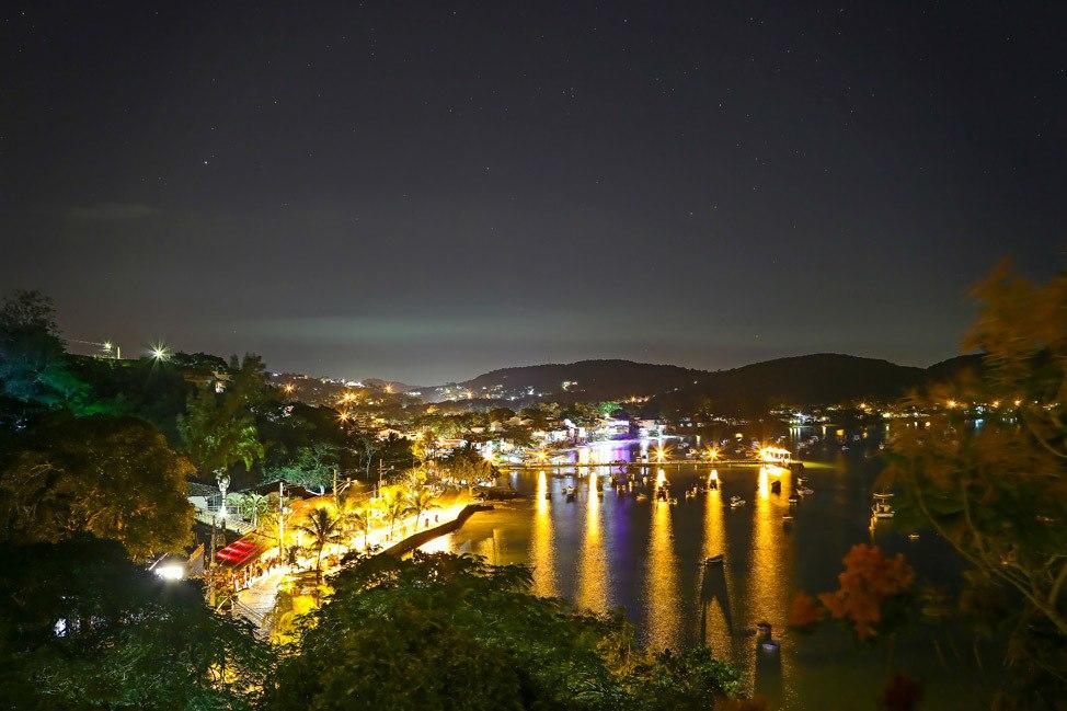 Night view from Casas Brancas, Buzios, Brazil