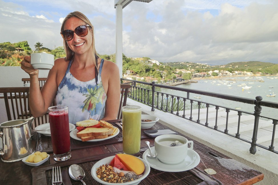 Breakfast at Casas Brancas, Buzios, Brazl
