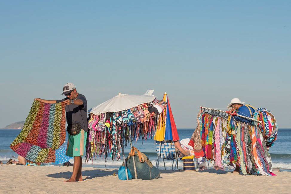 Vendors on Copacabana Beach