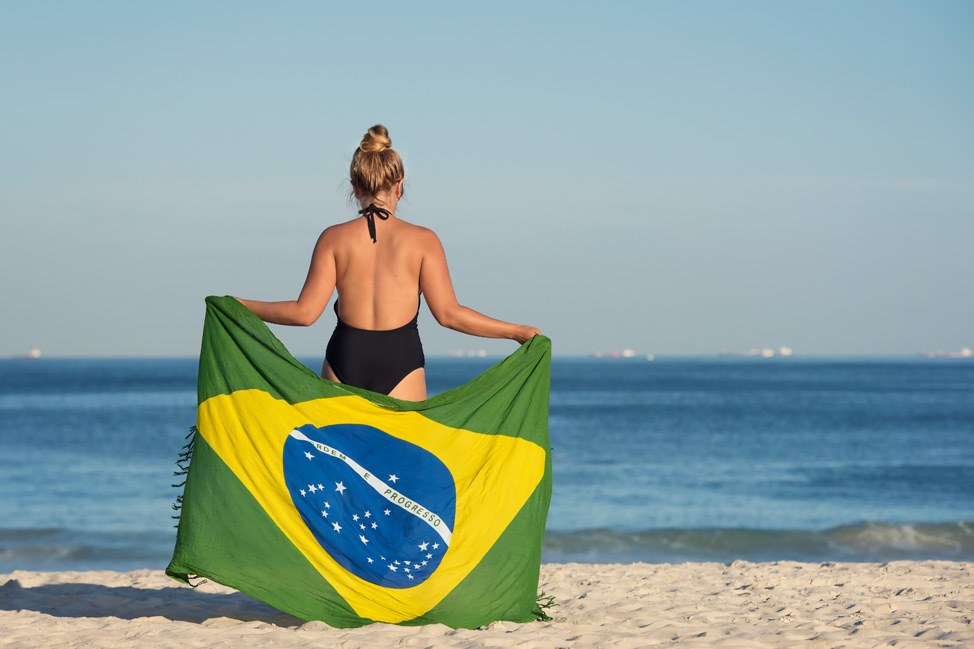 Rio Flag Canga on Copacabana Beach