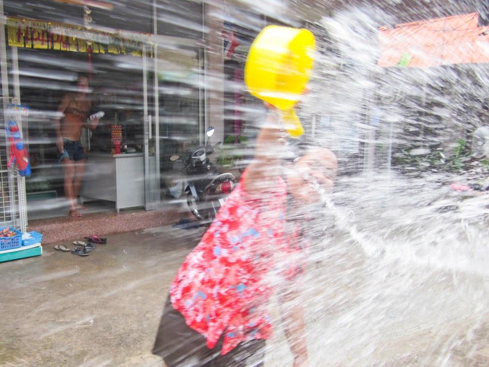 Celebrating Songkran on Koh Tao