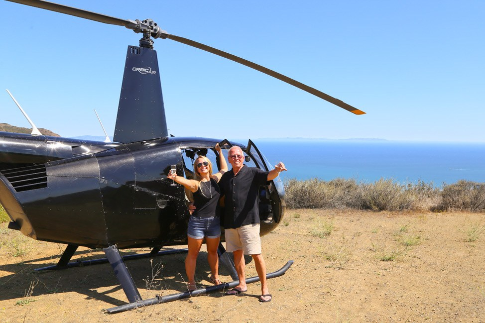 Helicopter Landing in Malibu