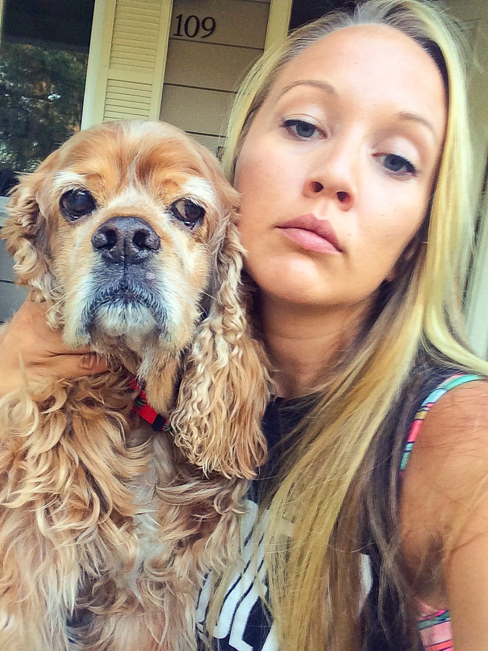 Disapproving Dog Selfie