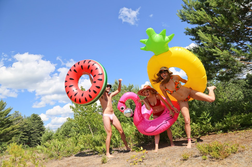 Pool Floats by the River at Port Leyden New York
