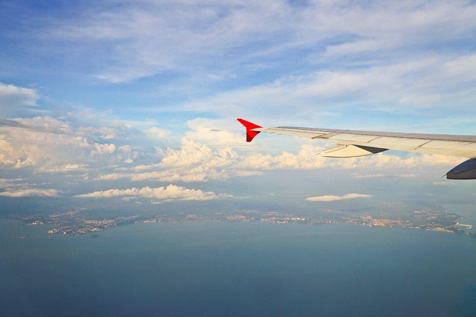 Flying into Penang Malaysia