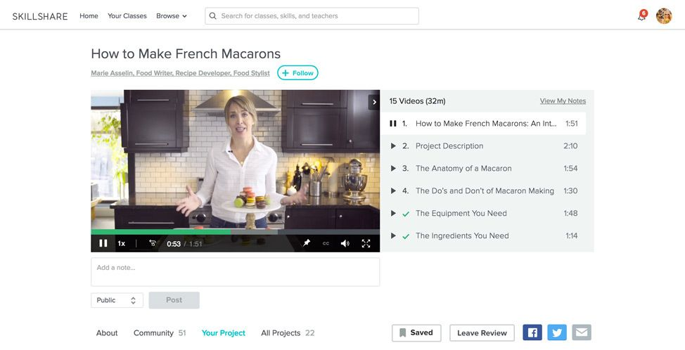 How To Make French Macarons Skillshare Course Review