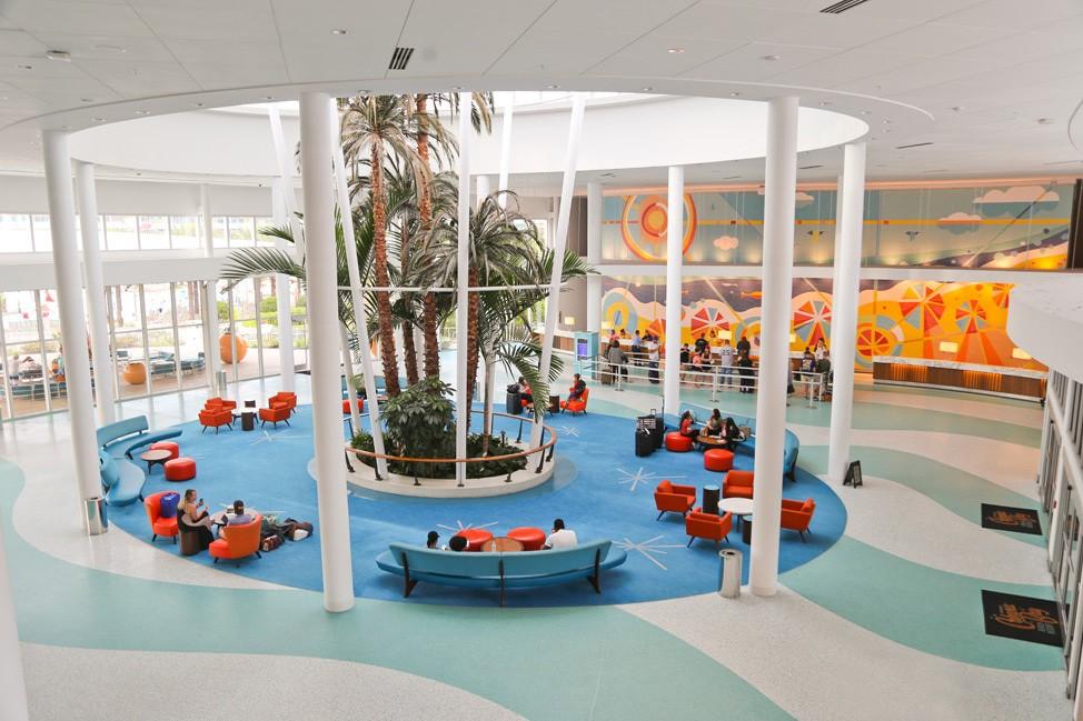 Lobby at Cabana Bay Beach Resort • Universal Orlando Hotel Review