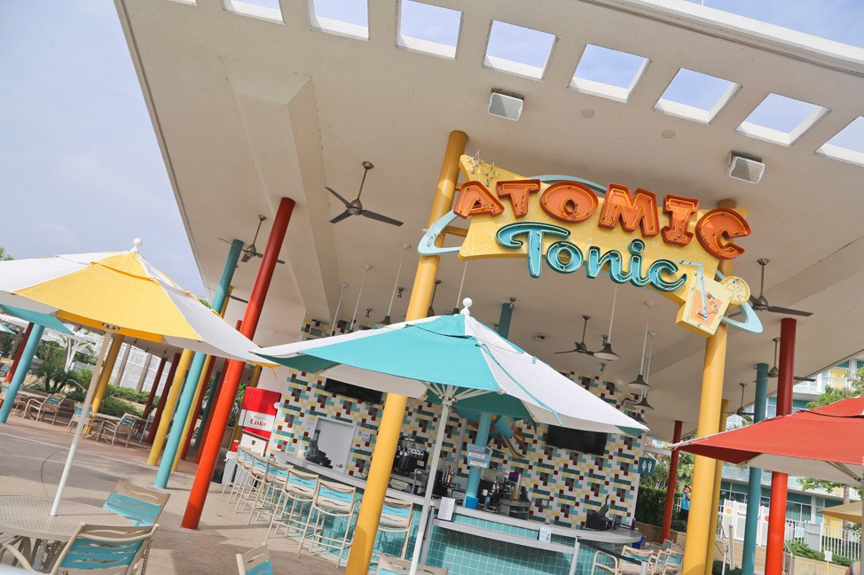 Atomic Tonic at Cabana Bay Beach Resort • Universal Orlando Hotel Review