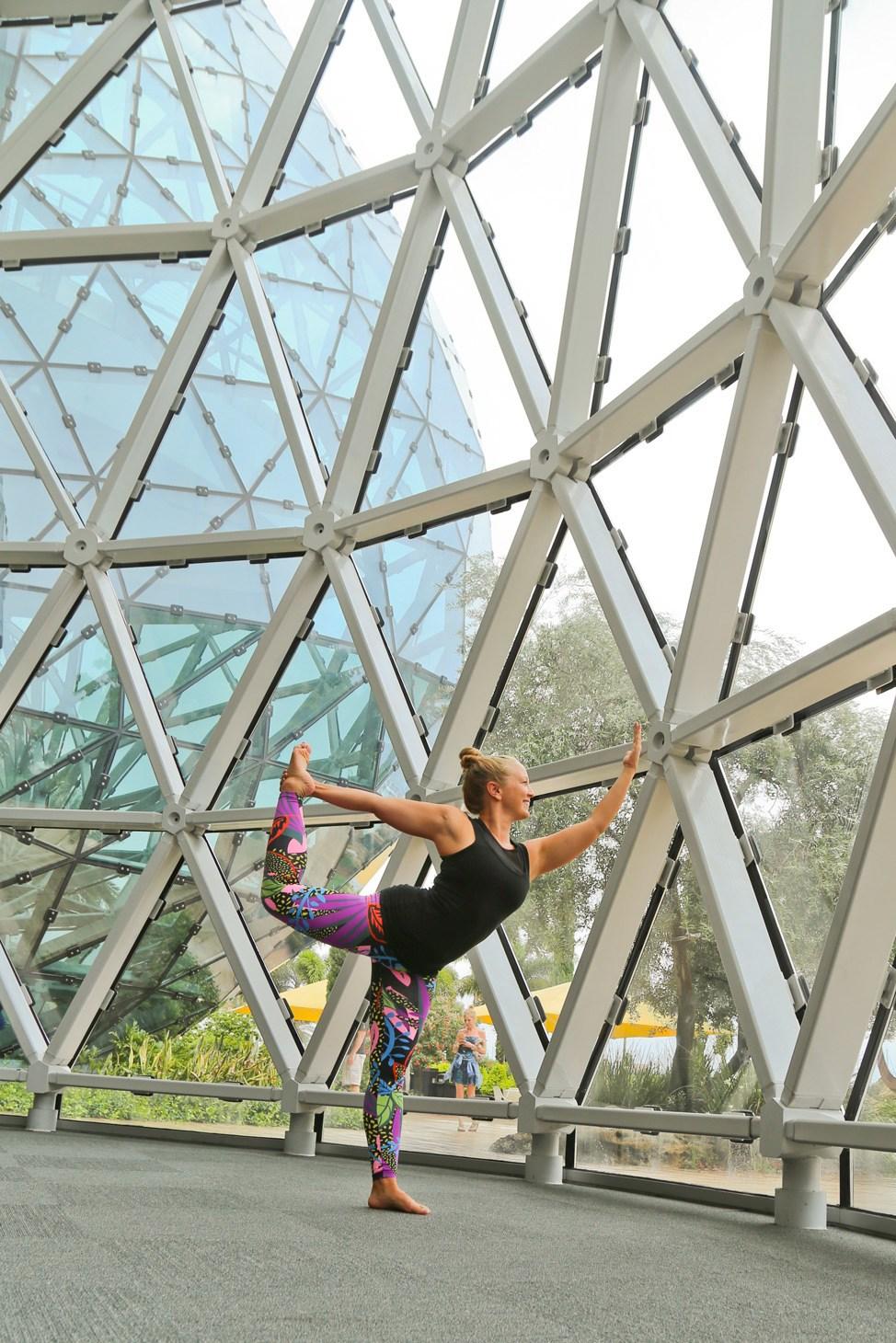 Yoga at The Dali Museum, St. Pete, Florida