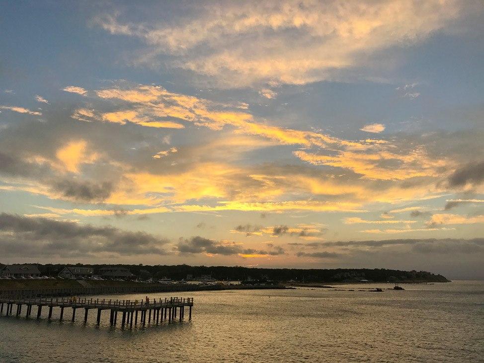 Oak Bluffs Sunset from Steamship Ferry