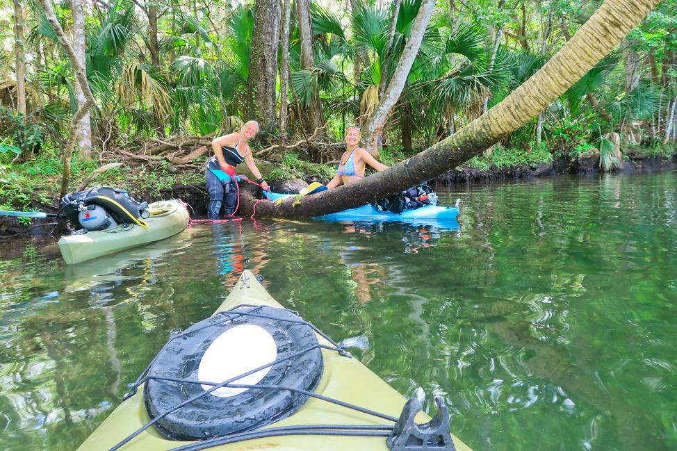 Kayaking to Hospital Hole, Crystal River, Florida