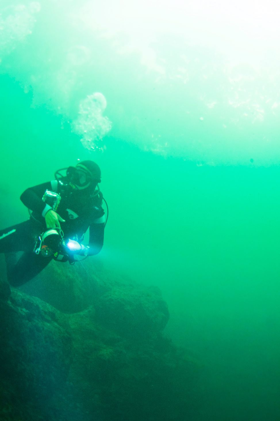 Scuba Diving Hospital Hole, Crystal River, Florida